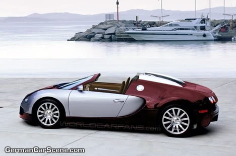 bugatti goes into the water