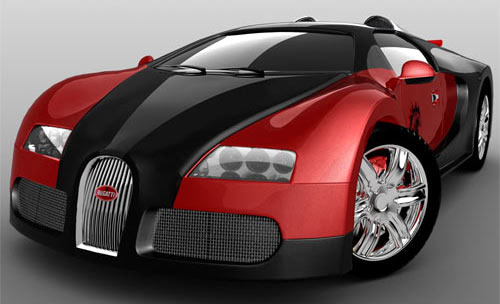 red color bugatti
